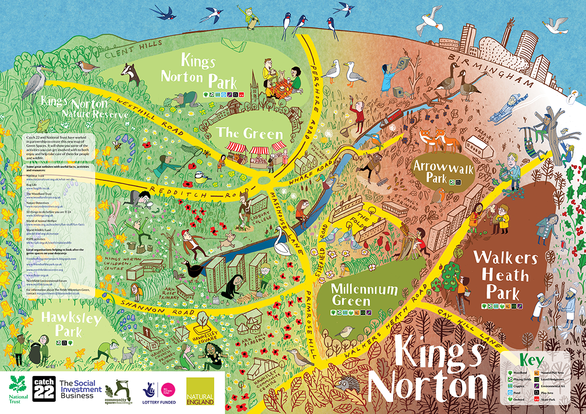 National Trust Uk Map A National Trust Map of Kings Norton   Mistermunro